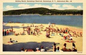 New York Adirondacks Sacandaga Bathing Beach Sacandaga Reservoir Curteich