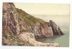 UK Torquay Devon Natural Arch Rock Formation Vtg Photochrom Postcard