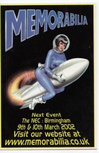 NEC Memorabilia Show, 2002 Advertising PPC, Unused, With Woman Riding Rocket