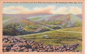 New Hampshire White Mountains Northern Peaks Cog Railway & Auto Road From...