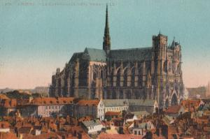 Amiens La Cathedrale Cote Nord Aerial French Religious Postcard