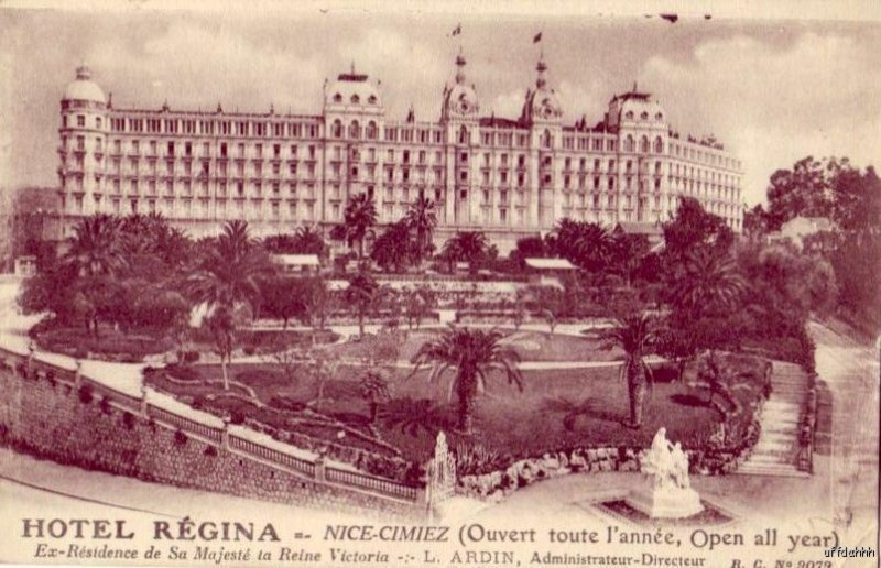 HOTEL REGINA NICE-CIMIEZ FRANCE 1927