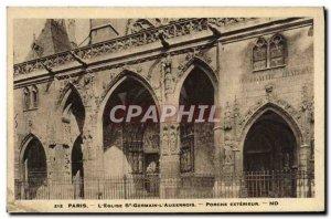 Old Postcard Paris L & # 39Eglise St Germain l & # 39Auxerrois Porch Outdoor