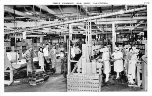 Fruit Canning SAN JOSE, CA Factory Workers c1920s Vintage Postcard