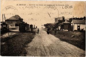 CPA ROYAN - Arrivée du train au Casino de la Gande Cote (213229)