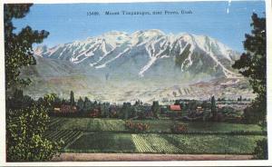 View of Mount Timpanogos near Provo, Utah - Linen