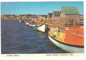 Lobster Boats , North Rustico Harbor , P.E.I. , Canada , 50-70s