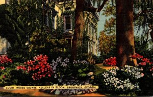 Georgia Brunswick Court Huse Square Azaleas In Bloom