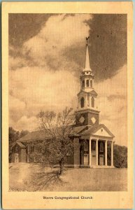 University of Connecticut Postcard Storrs Congregational Church w/ 1937 Cancel