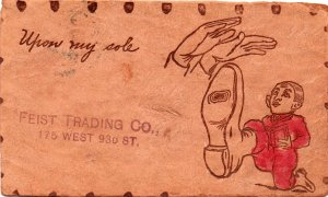 11243 1906-Upon My Sole Leather Postcard, Feist Trading Co. New York