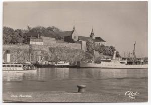 Norway; Oslo, Akershus RP PPC, 1953 PMK Note MS Galteshus (SP?)