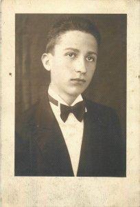 Postcard Social history man portrait Arad