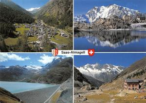 Switzerland Saas Almagell Wallis Dorf Monte Moro Pass Mattmark Lake Panorama