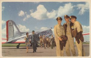 Flagship Airplane of AMERICAN AIRLINES , Soldiers , 40-50s