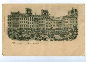 203234 POLAND WARSZAWA Stare Misto Vintage Sommer postcard