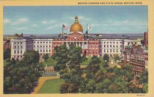 Boston Common and State House, Boston, Massachusetts, 30-40s