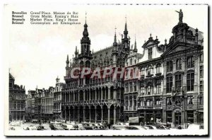 Old Postcard Brussels Grand Place Royal Household