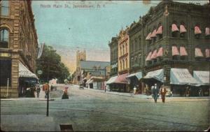 Jamestown NY North Main St. c1910 Postcard
