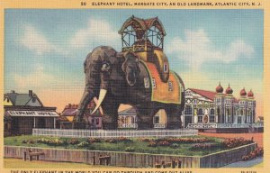 ATLANTIC CITY, New Jersey, 1930-1940's; Elephant Hotel, Margate City