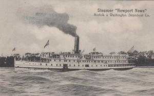 Norfolk & Washington Steamboat Co. Steamer NEWPORT NEWS , 00-10s
