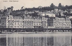 LUZERN, Switzerland, 1900-1910's; Hotel National