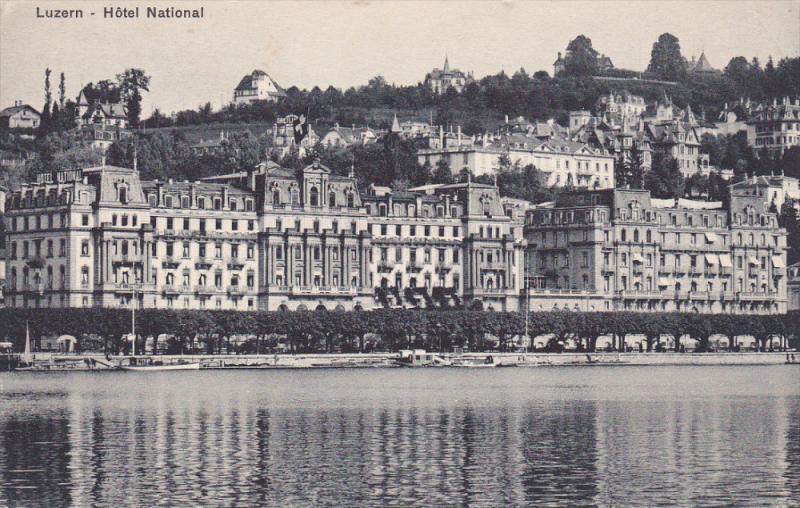 LUZERN, Switzerland, 1900-1910's; Hotel National