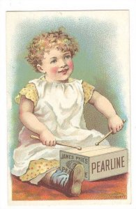 TC: Girl, James Pyles Pearline Washing Compound, New York, 1900s