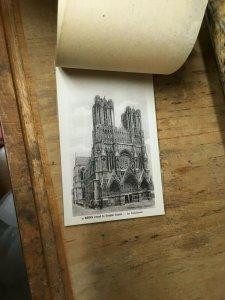 Reims Avant La Grande Guerre, vintage postcard Book France ,12 postcards