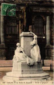 CPA CALAIS La Statue de Jacquard (405167)