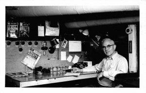 RPPC Photographer In Darkroom, Kodak Walt Bes? Canton, NY 1964 Vintage Postcard