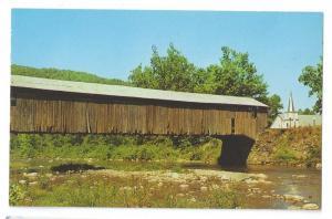 Covered Bridge Postcard Forksville Pennsylvania Sullivan Co