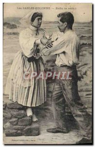 Old Postcard Folklore Les Sables d & # 39Olonnne Finally here you are