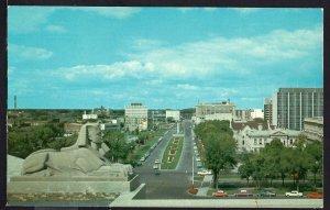 MB WINNIPEG Memorial Boulevard from Legislative Building Chrome 1950 -1970