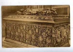 184477 BELGIUM BRUGES Notre Dame coffin Vintage postcard