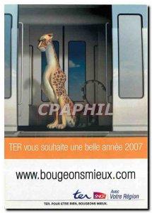 Postcard Modern Bougeons Mieux.comSNCF Cheetah