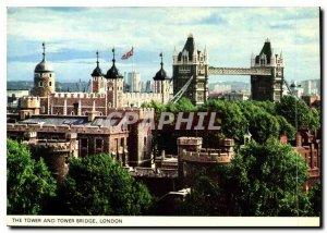 Modern Postcard The Tower and Tower Bridge London