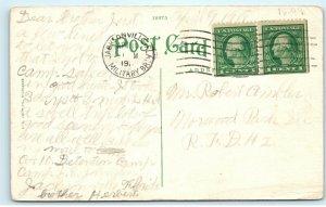 Post Office Nashville TN 1918 Camp J.E. Johnston Jacksonville Fl Postcard E25