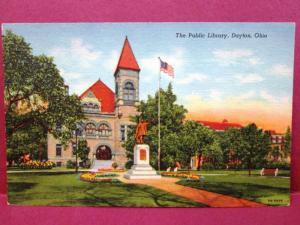 Postcard OH Dayton Public Library