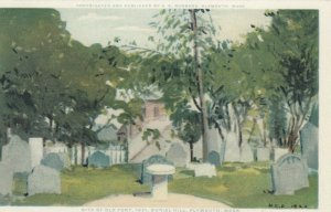 PLYMOUTH , Massachusetts, 1920 ; Site of Old Fort, Burial Hill