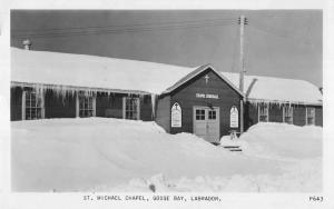Goose Bay Labrador Canada St Michael Chapel Real Photo Antique Postcard K16463