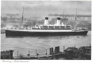 1920s Postcard of, Monte Sarmiento, Zweischrauben-Motorschiff, Motor Boat