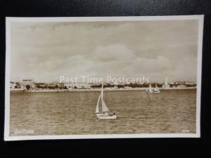 Hampshire: Southsea show War Memorial taken from Gosport c1953 RP Postcard