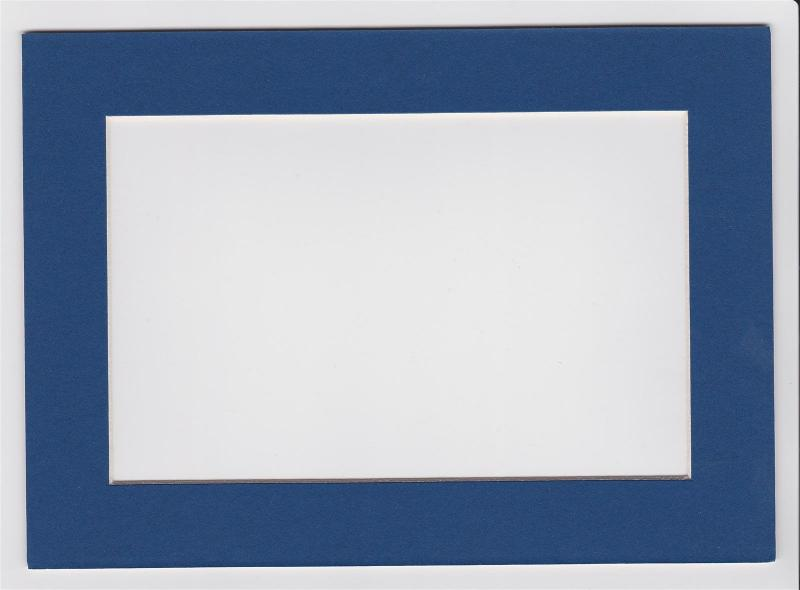 Custom Cut Postcard Mat Fits 5x7 Frame BLUE
