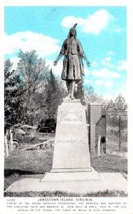 Virginia Jamestown Island Indian Princess Pocahontas Statue