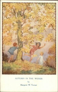 Margaret Tarrant Children Play AUTUMN IN WOODS Medici Postcard