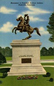 TN - Nashville. Monument to Pres. Andrew Jackson