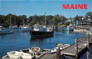 Ogunquit, Maine, ME, Perkins Cove, Unused Chrome Vintage Postcard c9655