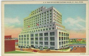 U.S. Post Office And Customs House, St. Paul, Minn. Linen