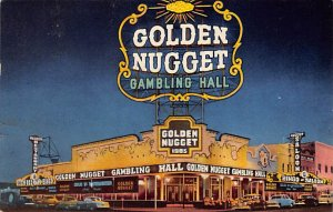 Casino Post Card Golden Nugget Gambling Hall Las Vegas, NV., USA 1954