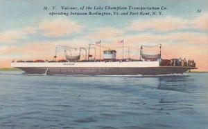 New York Port Kent Valcour Of The Lake Champlain Transportation Company Opera...